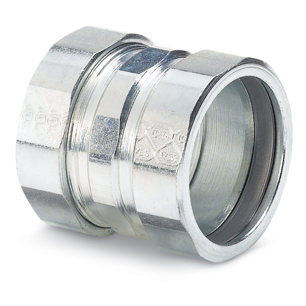 STEEL-CITY HK404 1-1/4 IN COUPLING, COMPRESSION, RIGID/IMC, STEEL