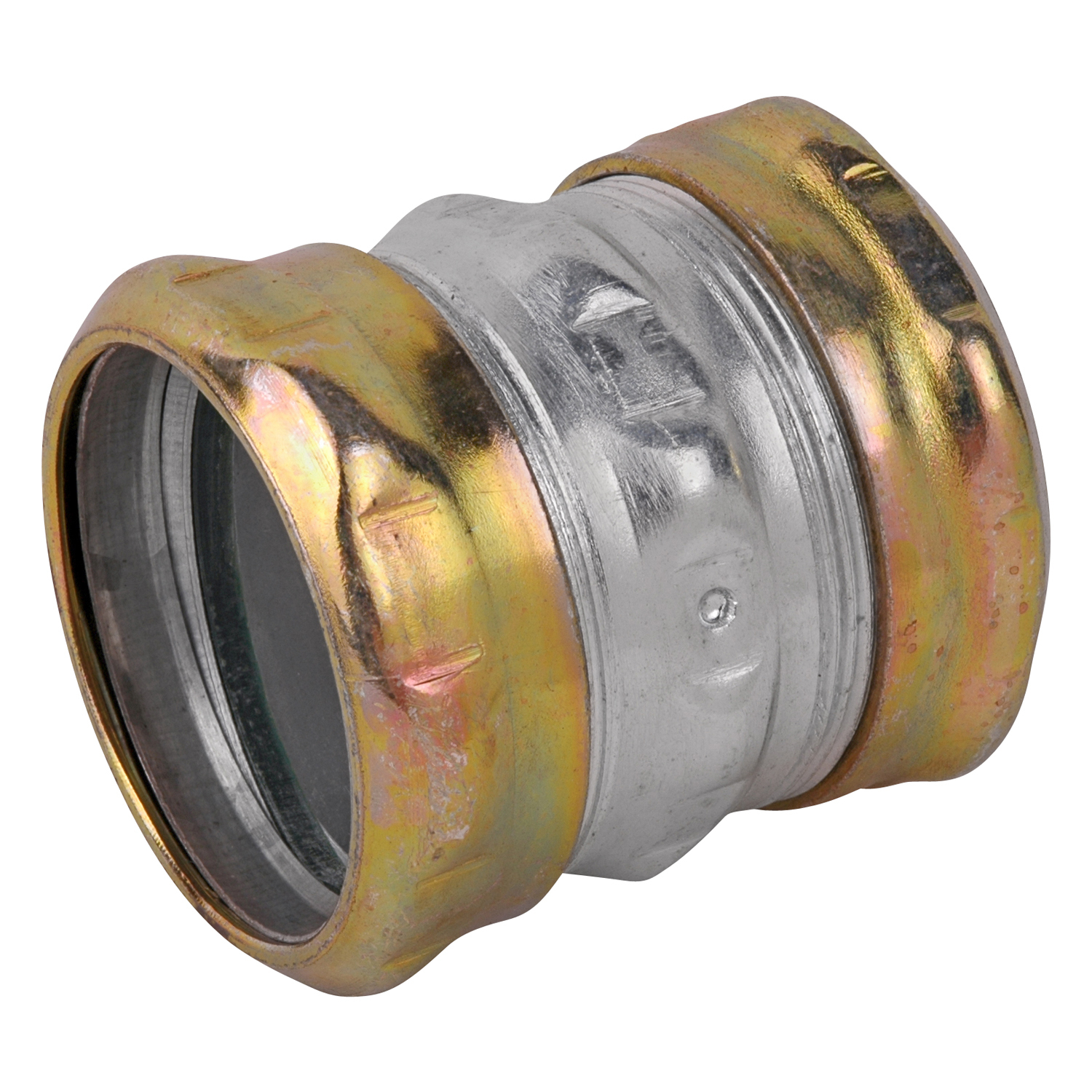 Steel City,TK116A-RT,Steel City® TK116A-RT Compression Thinwall Coupling, 2 in, For Use With EMT Conduit, Steel, Zinc Plated