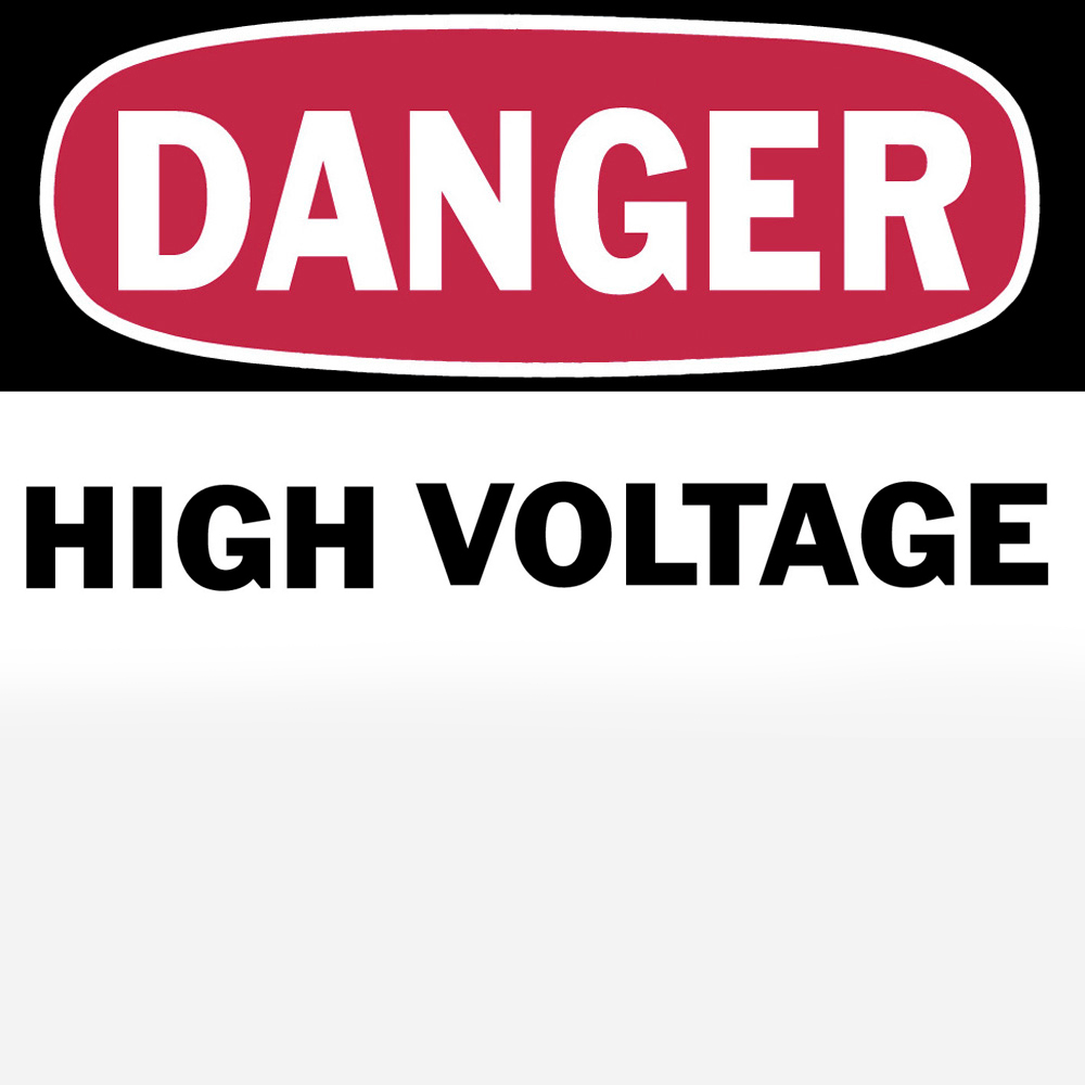 TB WHF-0076 PRES SEN SIGNS (DANGER HIGH VOLTAGE) 2-1/4