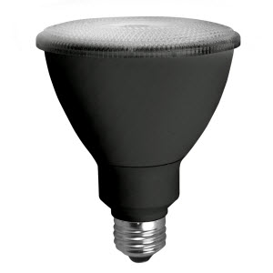 tcp LED12P30D30KFLB TCP 12W PAR30L 3000K 875 LUMEN DIMMABLE 40DEG LED LAMP BLACK BACK