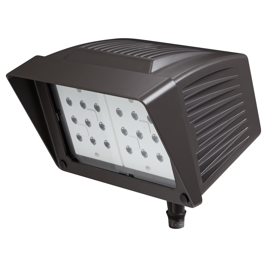 Atlas® PFM43LED Floodlight Fixture,) LED Lamp, 89 W Fixture, 120/208/240/277 VAC, Polyester Powder Coated Housing