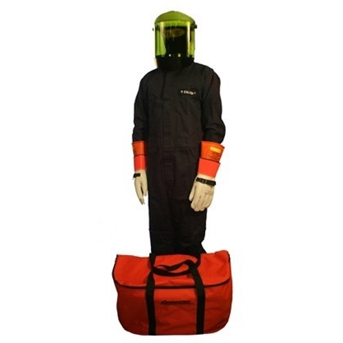 CEM CFRCA12-XL ARC FLASH COVERALL KIT - (SZ X-LARGE COVERALLS/HARD HAT W/ FACE SHIELD / BALACLAVA / STORAGE BAG) (CALORIE RATING 12)