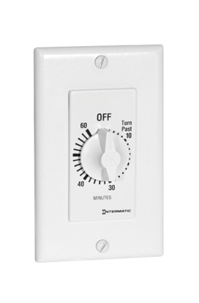 ITS FD60MWC 60MIN SPRING WOUND TIMER - WHITE cs=6