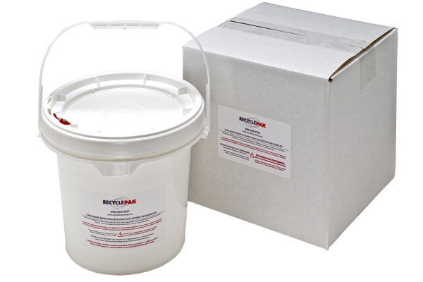 SUPPLY-150 VEO RECYCLEPAK 2 GAL SEALED LEAD ACID RECYCLING PAIL