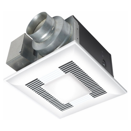 PNS FV-08VQL6 80CFM WHISPERLITE EXHAUST FAN/LIGHT - <.3 SONES - ENERGY STAR