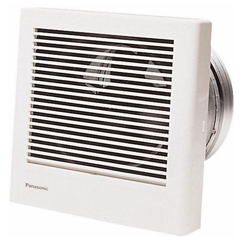 Panasonic,FV-08WQ1,Panasonic WhisperWall™ FV-08WQ1 Ventilation Fan, 70 cfm, 8 in Duct, 18 W, 120 VAC, 0.2 A, Import