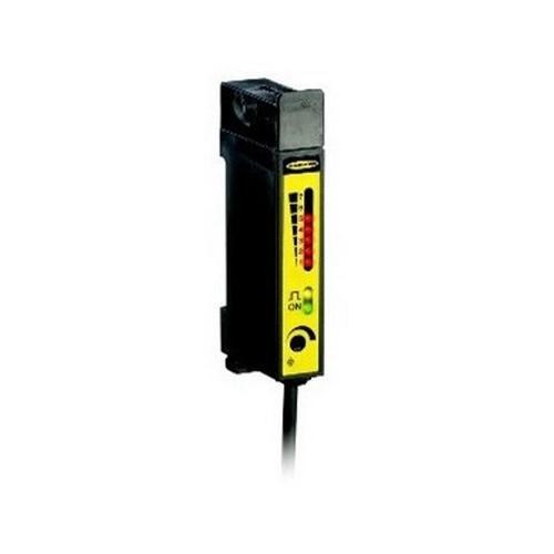 BANNER D12SN6FPY D12 Series: High Speed Plastic Fiber Optic; Range: depends on fiber; Input: 10-30V dc; Output: Complementary NPN; 2 m (6.5 ft) cable