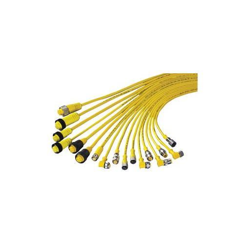 MQDEC2-515 BAN 60811 EURO-STYLE QUICK DISCONNECT CABLE WITH SHIELD 5PIN STRAIGHT CONNECTOR 5M(15') W/CHRME PLATED BRASS COUPLING NUT