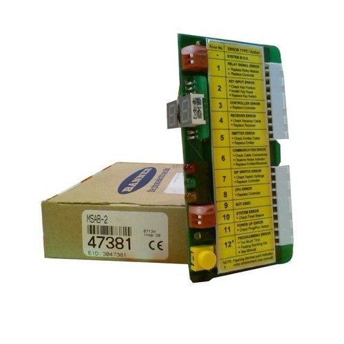 BANNER MSAB-1 MINI-SCREEN Replacement Part; Control Module; Used With: MSC..-1 Series Controllers