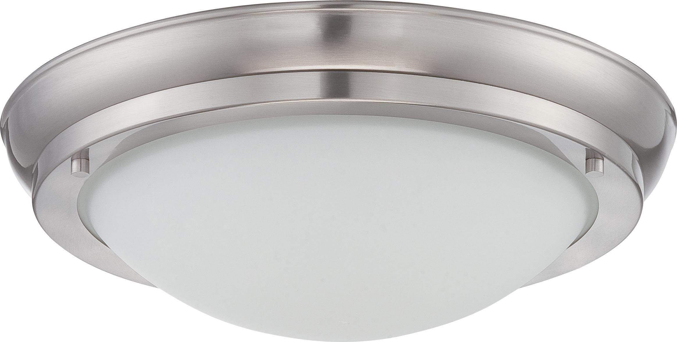 POKE MED LED FLUSH FIXT Brushed Nickel
