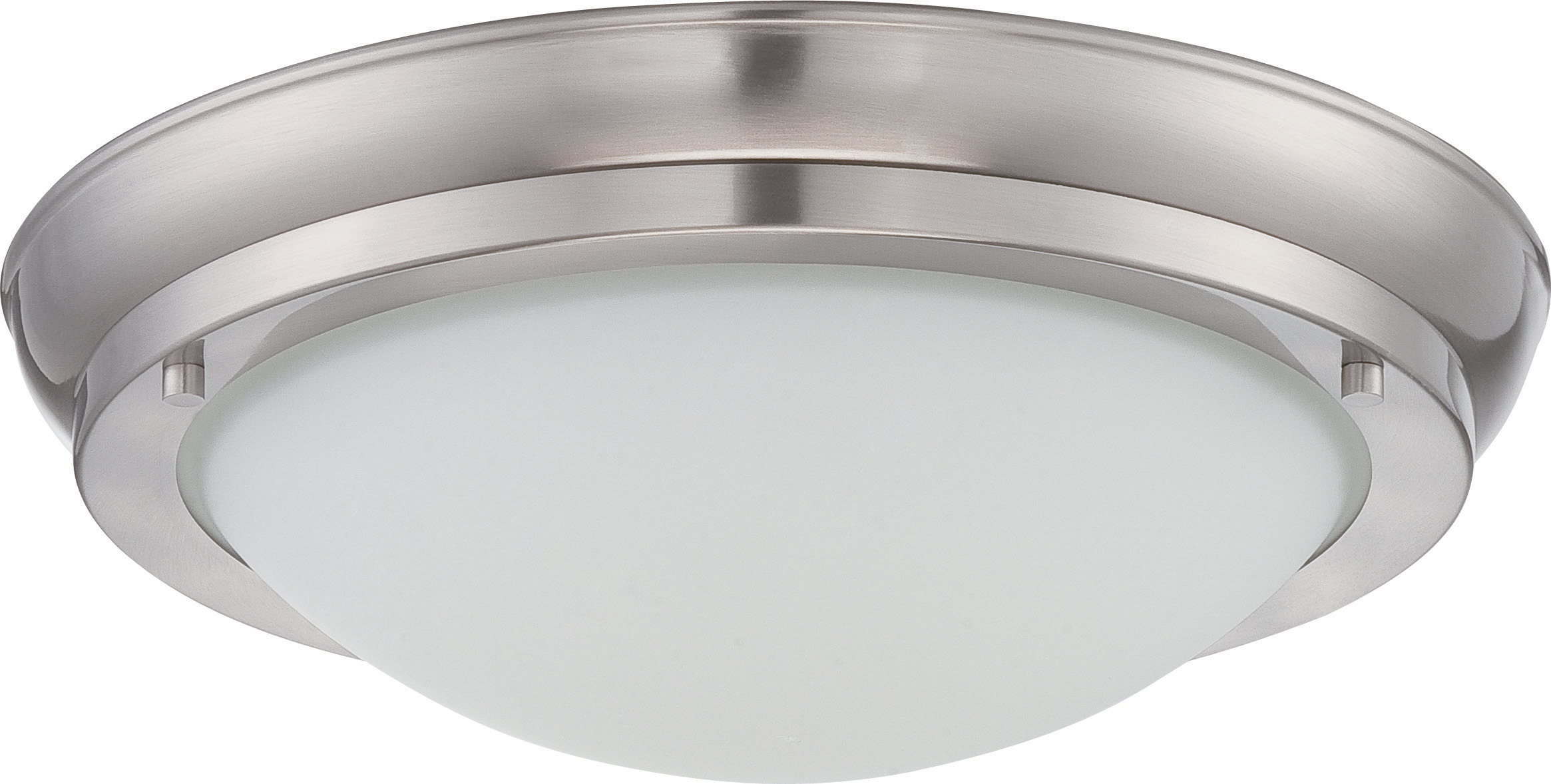 POKE LRGE LED FLUSH FIXT Brushed Nickel