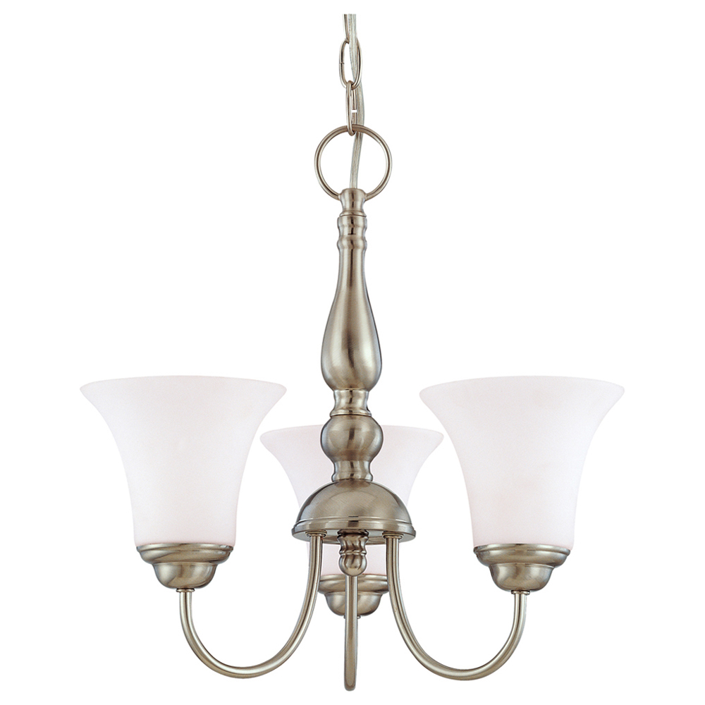 NUV 60-1821 3 LIGHT SHADED CHANDELIER