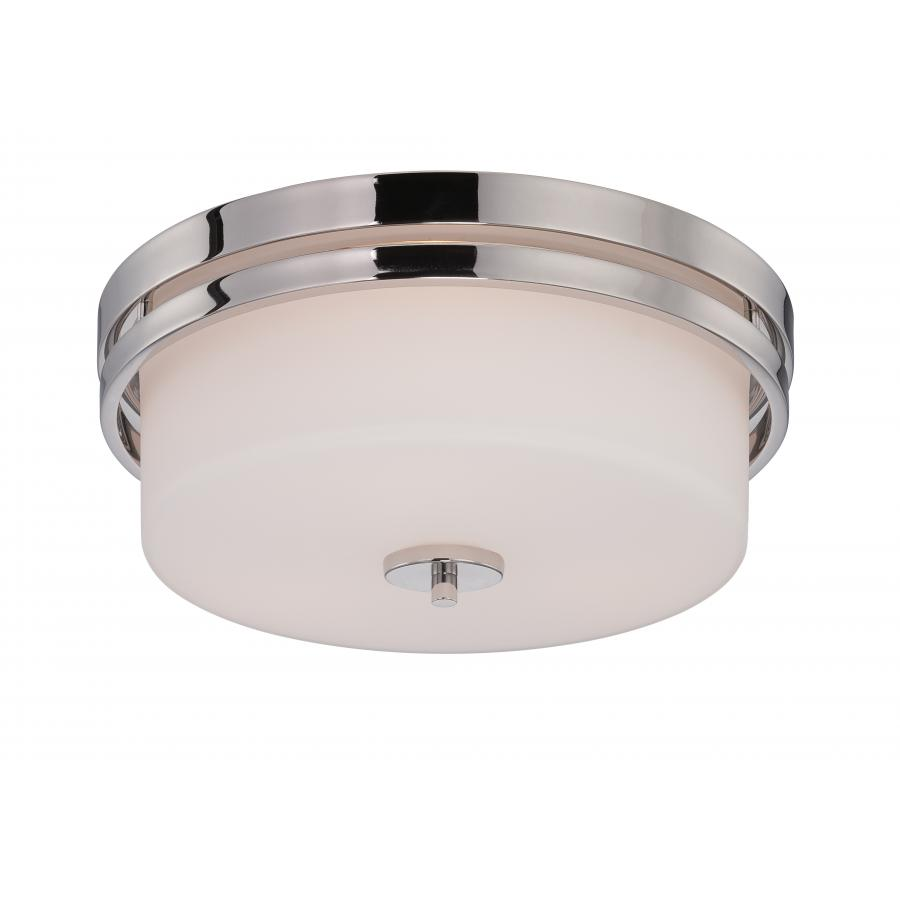 Nuvo,60/5207,NUVO® by SATCO Parallel Transitional Ceiling Light, 3 A19 Incandescent Lamp, 120 VAC, Polished Nickel Housing