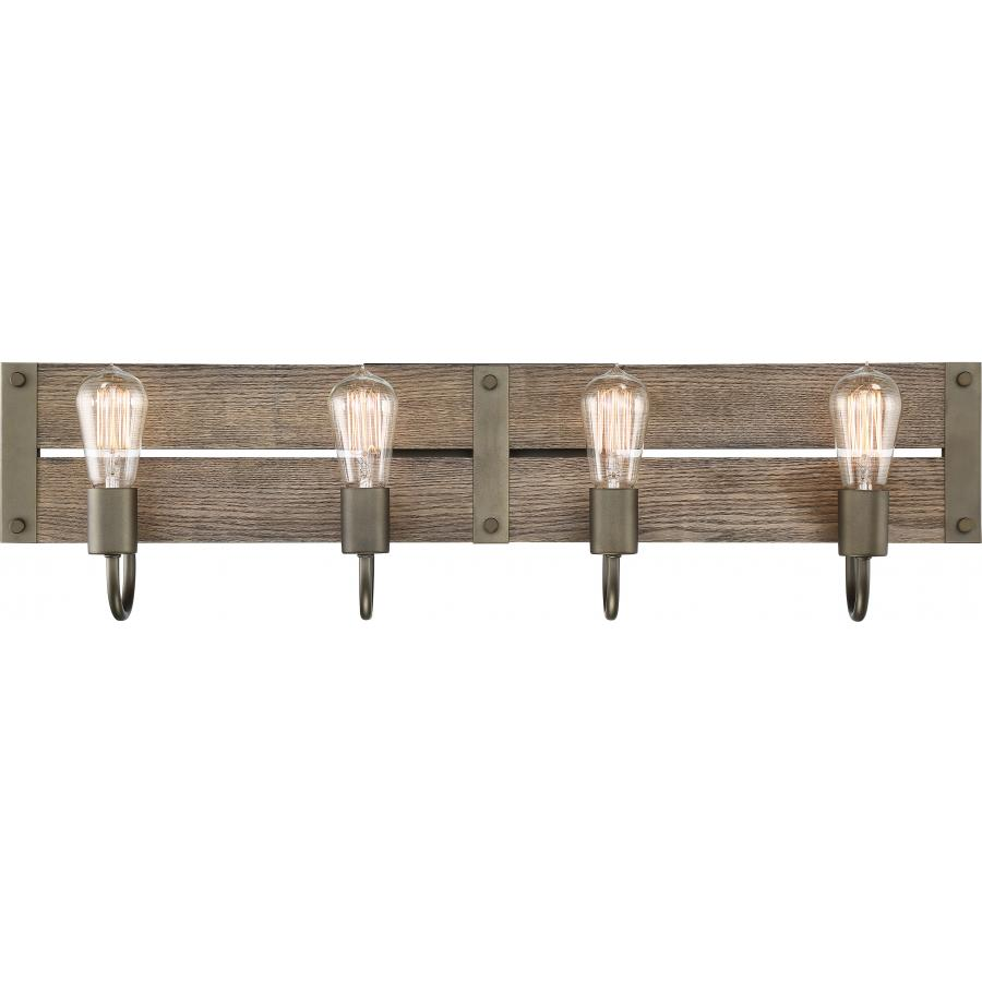 60/6430 SATCO WINCHESTER 4 LIGHT VANITY - BRONZE/AGED