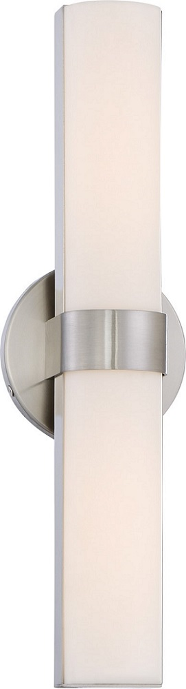 Nuvo,62-732,NUVO® by SATCO® Bond Dimmable Transitional Vanity Light Fixture, 2 LED Lamp, 120 VAC, Brushed Nickel Housing