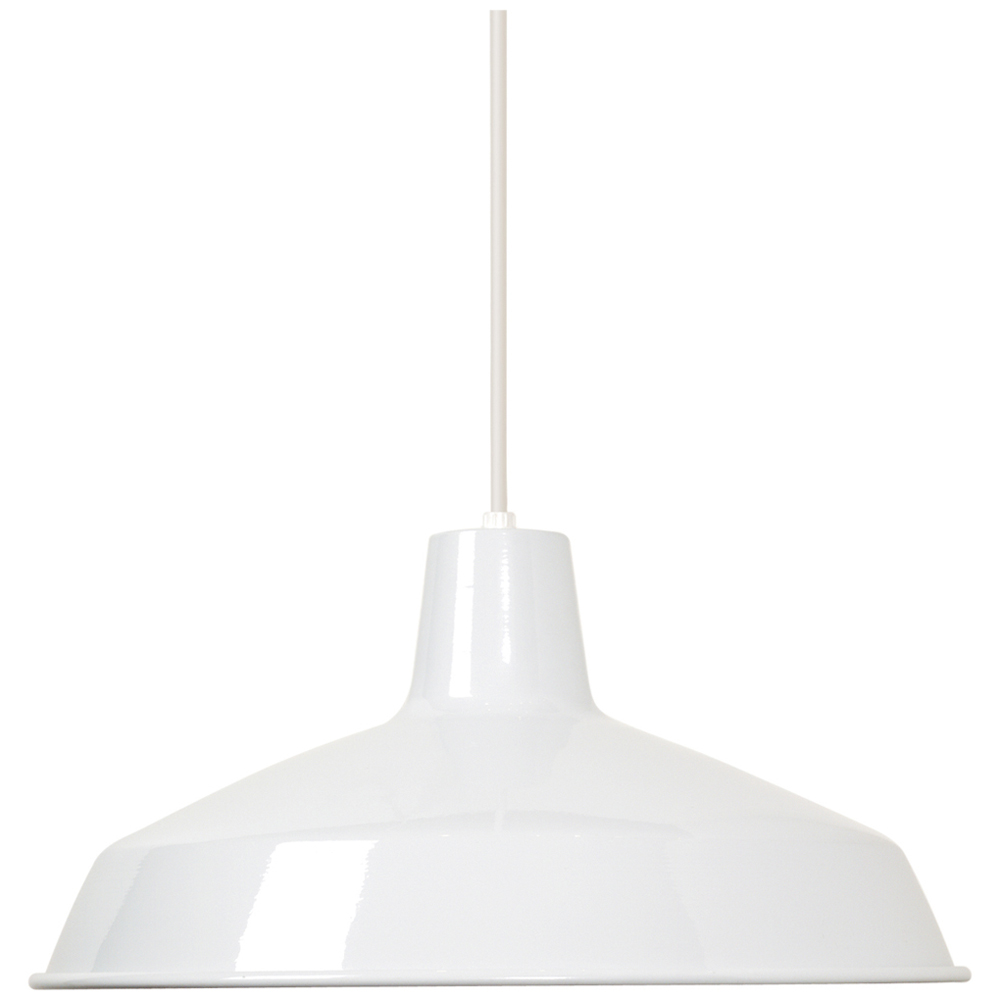 Satco,76/283,NUVO® by SATCO 76-283 Traditional Pendant Light, 1 A19 Incandescent Lamp, 100 W Fixture, 120 VAC, White Housing