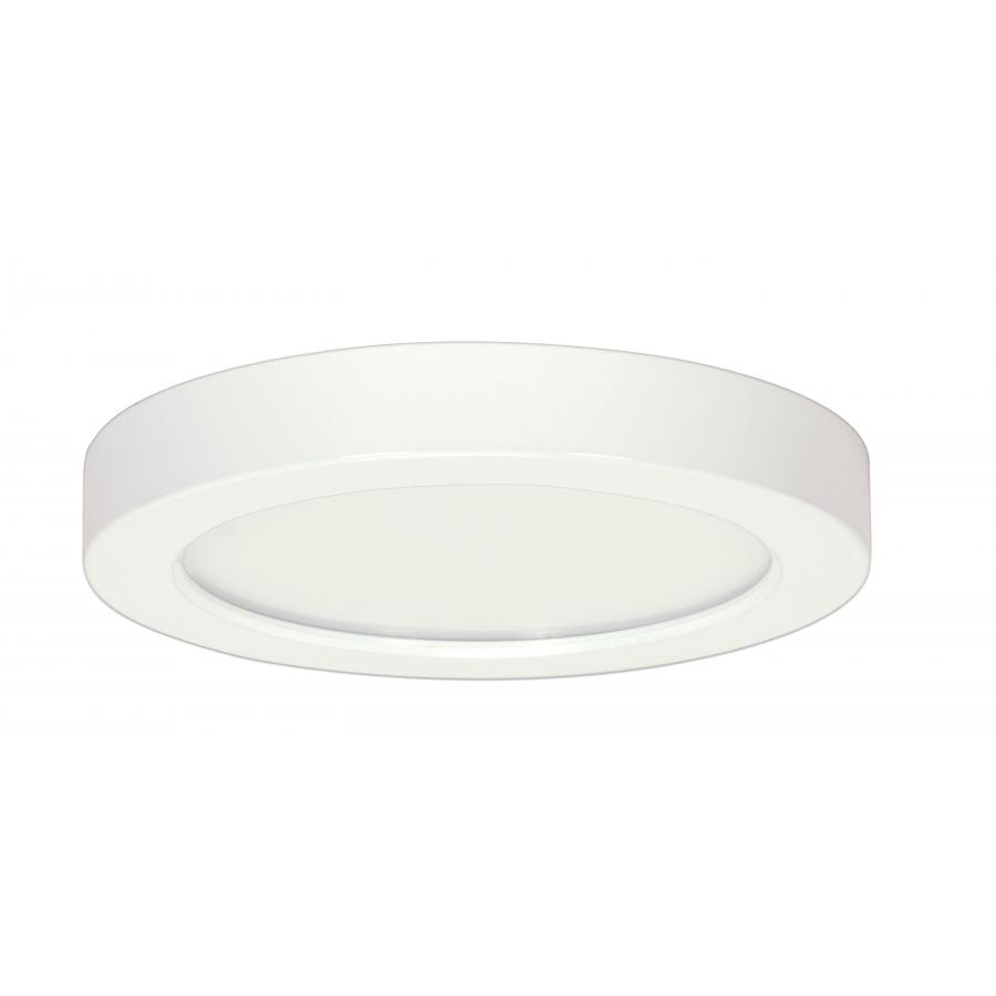 Satco,S9358,SATCO® Blink Dimmable Round Flush Mount Light, LED Lamp, 277 VAC, White Housing