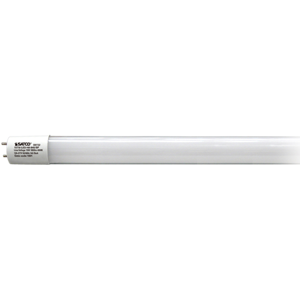 SAT S9722 15T8/LED/48-840/BP 15W 82CRI 1800 LUMENS 4000K Direct Wire No Ballast/Driver required 120-277v H/N SAME END