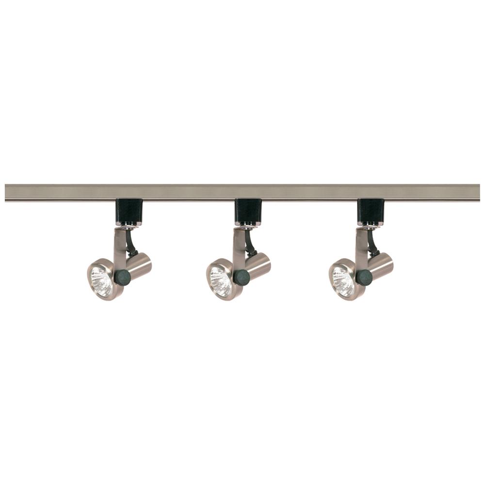 Satco,TK353,NUVO® by SATCO TK353 Transitional Track Lighting Kit, MR16 Halogen Lamp, 120 VAC, Gimbal Ring Head