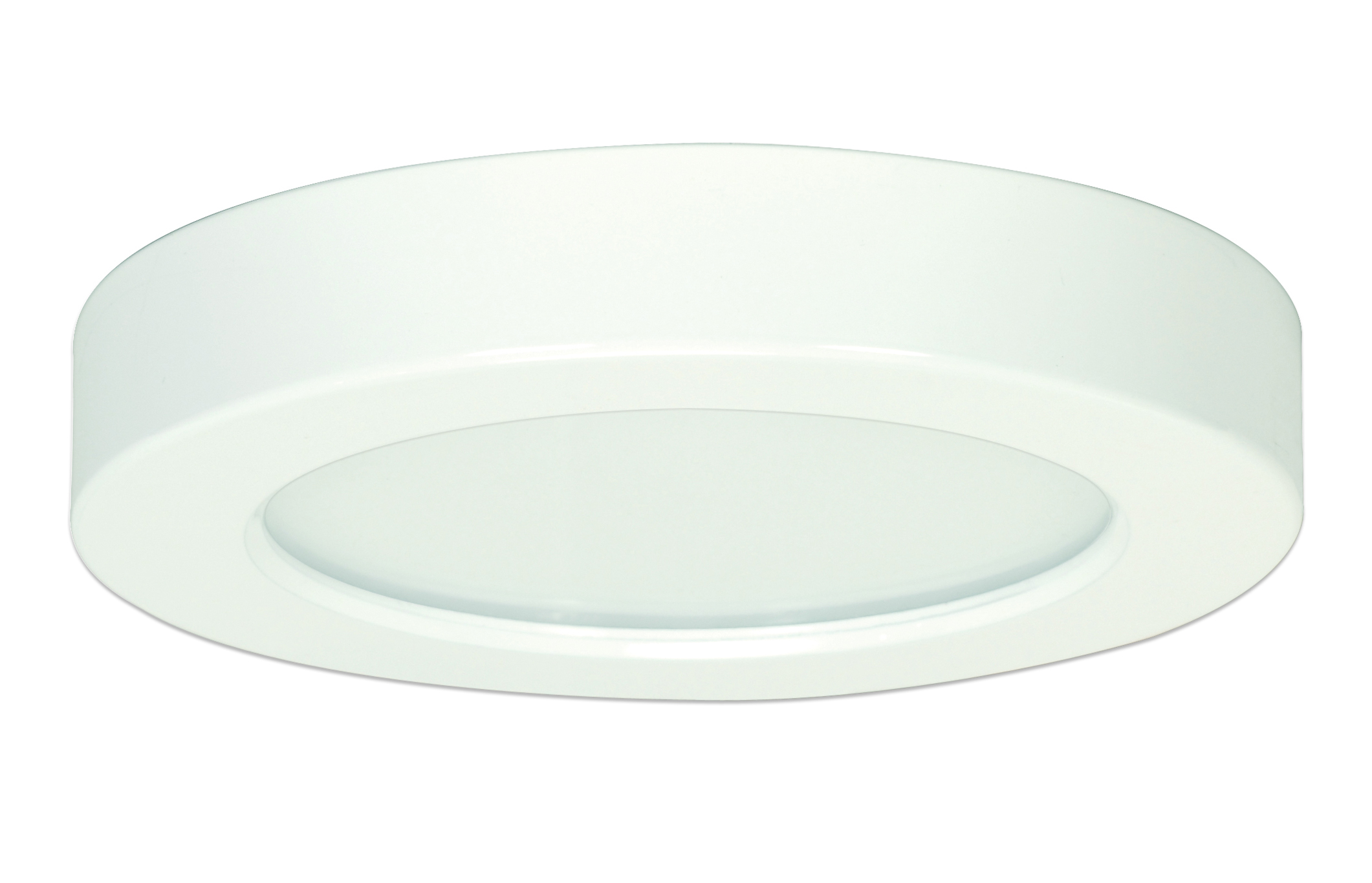 Satco,S9320,SATCO® Blink Dimmable Round LED Fixture, LED Lamp, 120 VAC, White Housing