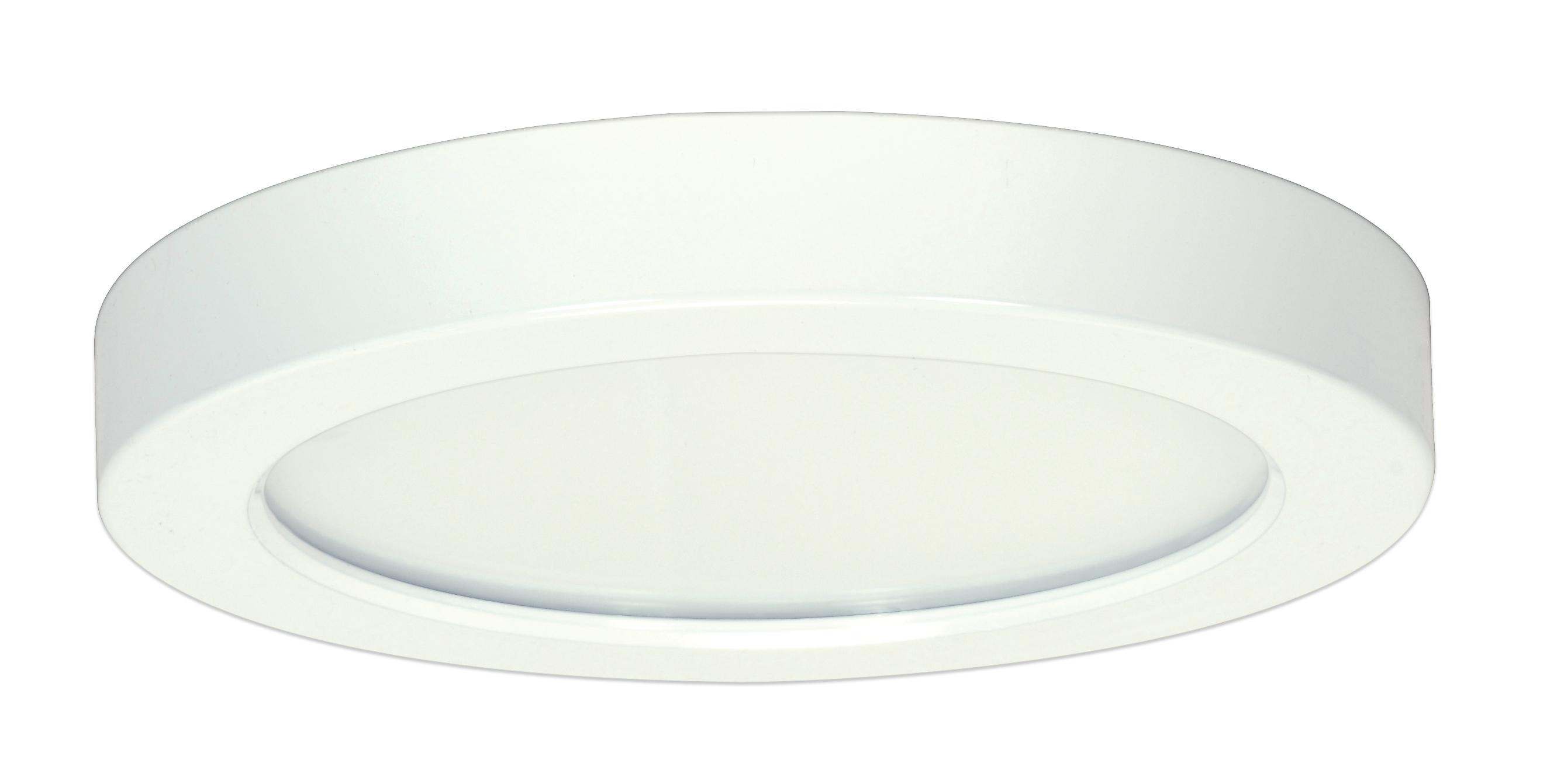 Satco,S9367,SATCO® Blink Dimmable Round Flush Mount Light, LED Lamp, 120 VAC, White Housing