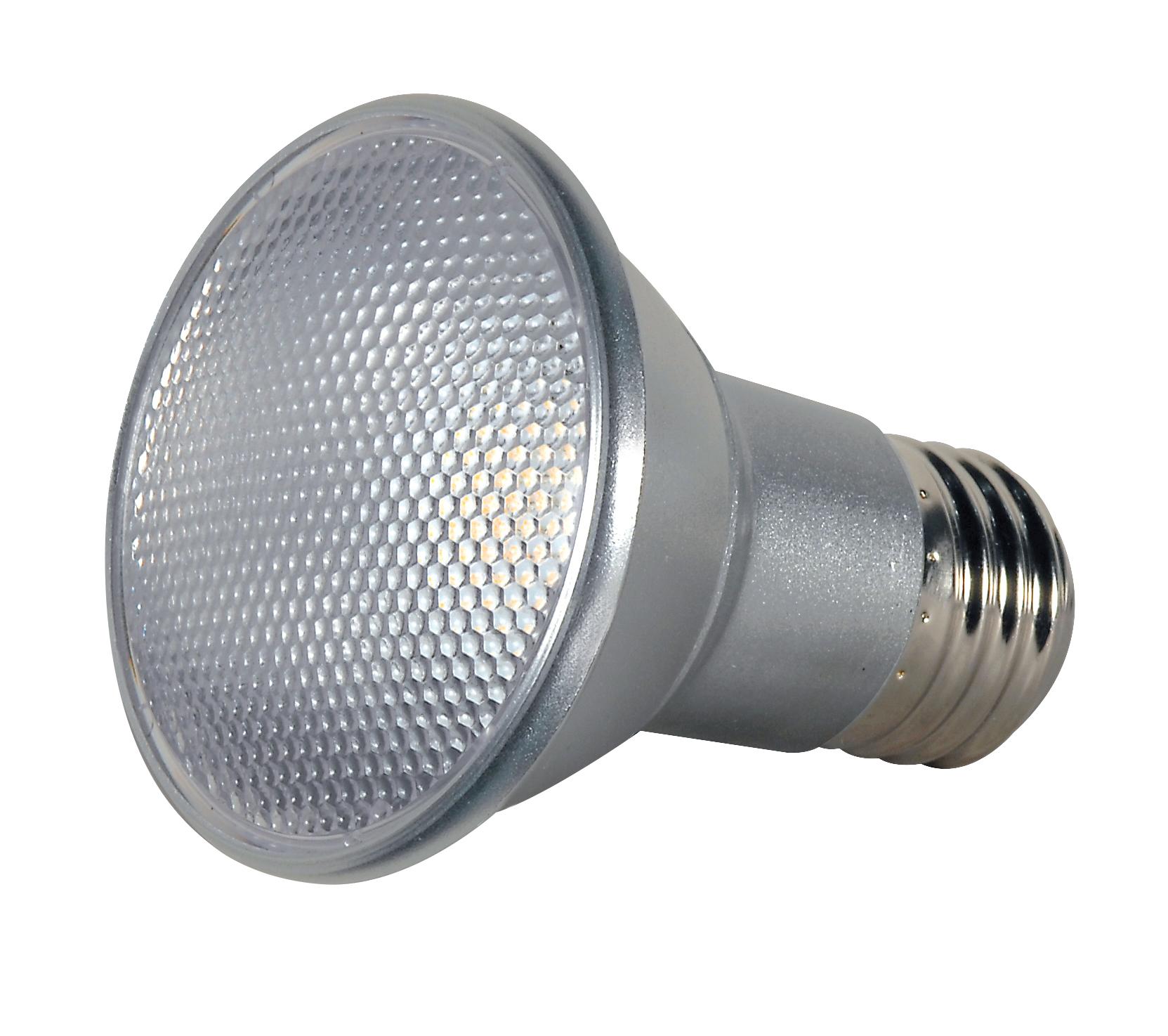 Satco,S9400,SATCO® S9400 Dimmable Reflective Lamp, 7 W, LED Lamp, Medium E26 Lamp Base, PAR20 Shape, 525 Lumens Initial