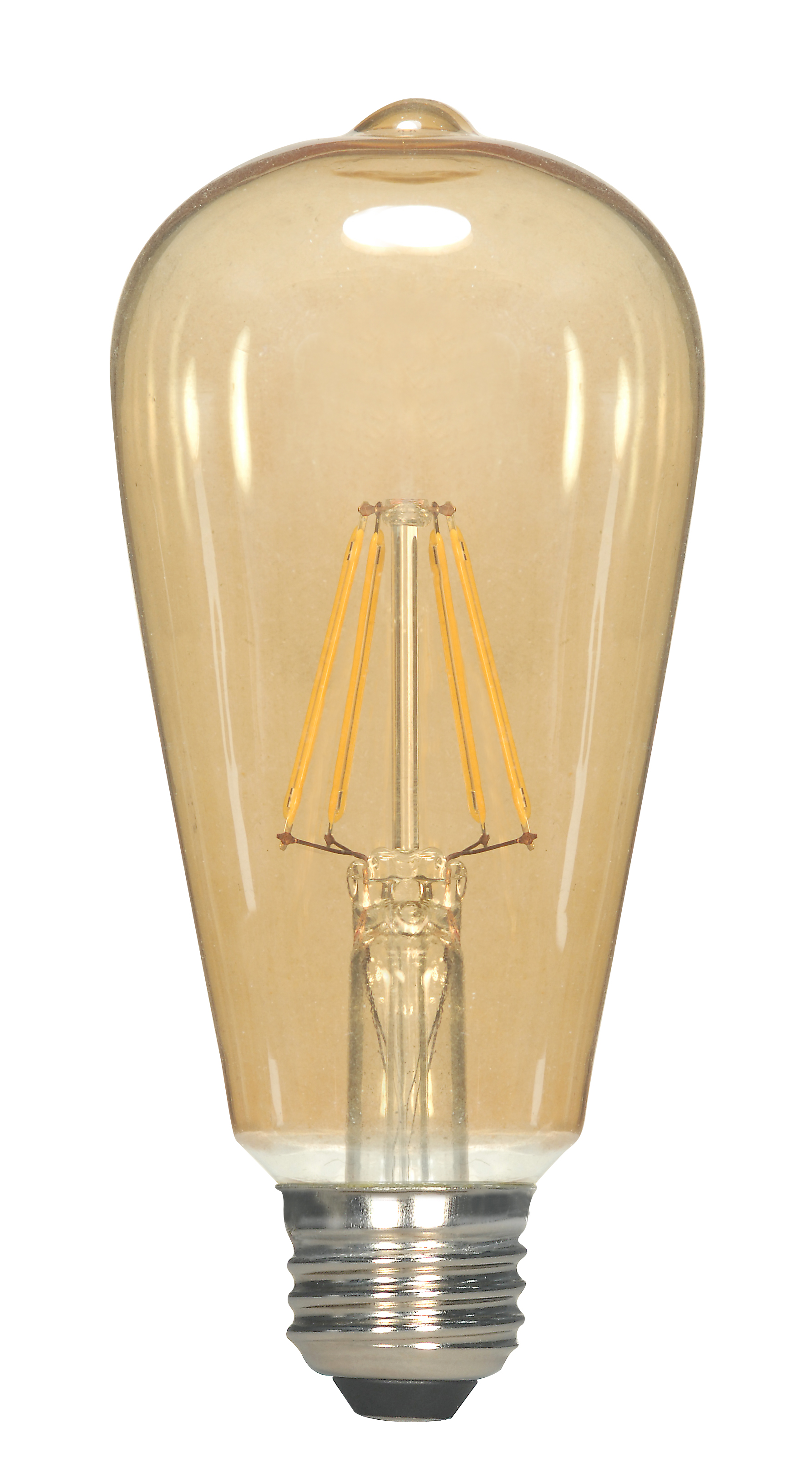 Satco,S9579,NUVO® by SATCO S9579 Dimmable LED Lamp, 6.5 W, LED Lamp, Medium E26 Lamp Base, ST19 Shape, 650 Lumens Initial