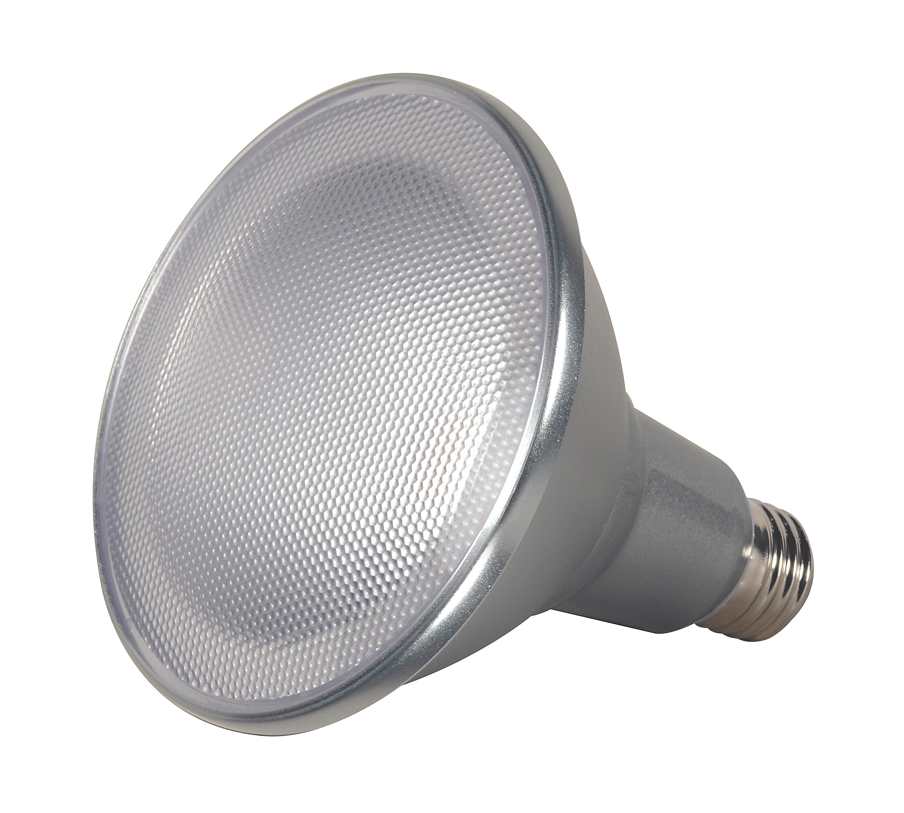 SATCO S9447 15W LAMP PAR38 LED FLOOD 3500K 40FT BEAM SPREAD MEDIUM BASE 120V