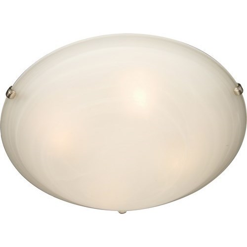 MAX 2681MRSN 3X60M Malaga Satin Nickel Flush Mount