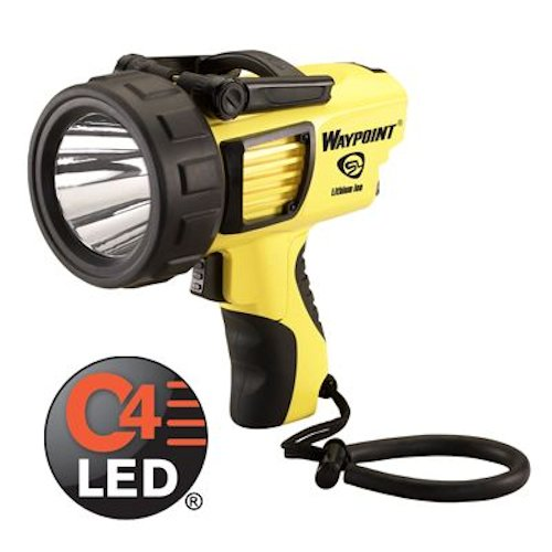 44910 STREAMLIGHT WAYPOINT 120V YELLOW LED SPOTLIGHT