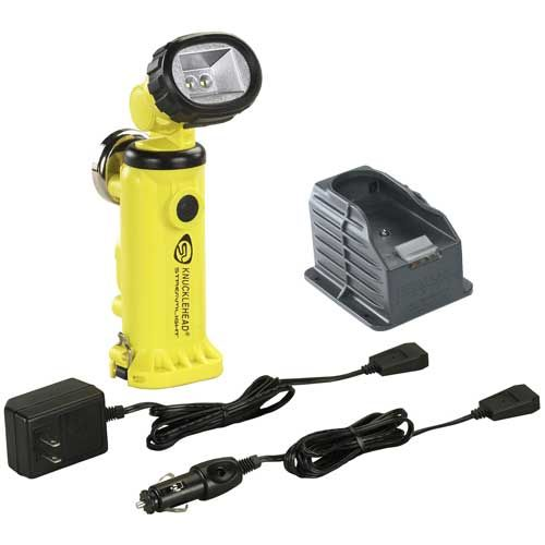90627 STREAMLIGHT Knucklehead with Charger/Holder and 120V AC & DC cords - Yellow