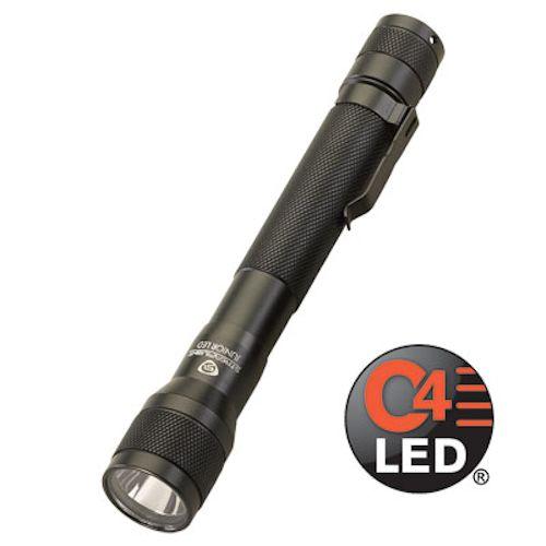 71500 STM JR. BLACK ALUM.W/LUXEON WHT LED & 2 AL-AA BATT.
