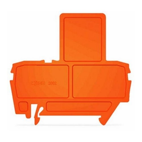 End Plate, for Fuse Terminal Blocks, 2 mm Thick, Orange