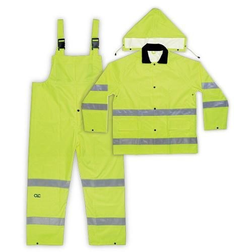 CLC,R111L,CLIMATE GEAR RAIN SUIT,LARGE,LIME YEL