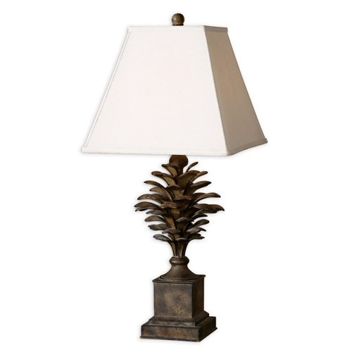 Utt 27667 one light burnished antique wash table lamp 1x100m