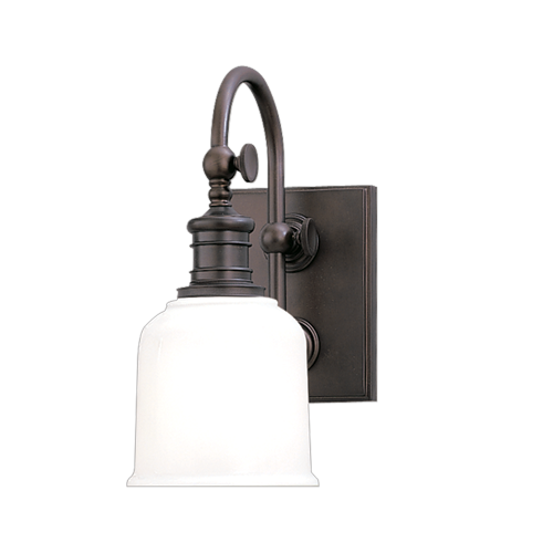 HDS 1971-SN One Light Satin Nickel Bathroom Sconce 1X100A19