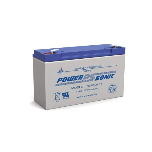 PS-6100F1 POWERSONIC BATTERY 6V RECHARGEABLE SEALED LEAD ACID ABS EMERGENCY LIGHT BATTERY L:5.95