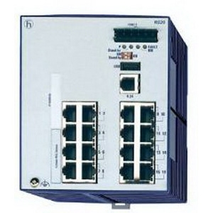 943434-023 HIRSCHMAN RS20-1600T1T1SDAE OPEN RAIL MANAGED SWITCH, NON-GIGABIT, (16) 10/100 PORTS, ENHANCED MANAGEMENT