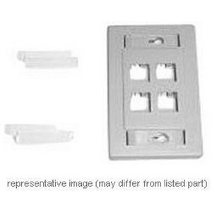 bld AX102655 FACEPLATE 2-PORT WHITE PLASTIC FLUSH