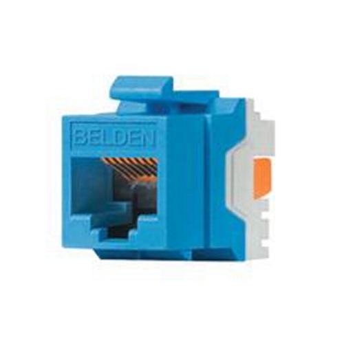 bld AX104193 BELDEN RJ45 MODULAR JACK KEYCONNECT BLUE PLASTIC