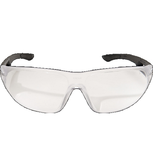 AB111 WOLF PEAK KIROVA SAFETY GLASSES BLACK W/CLEAR LENS