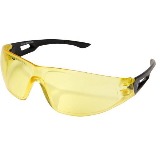 AB112 WOLF PEAK KIROVA SAFETY GLASSES BLACK W/YELLOW LENS
