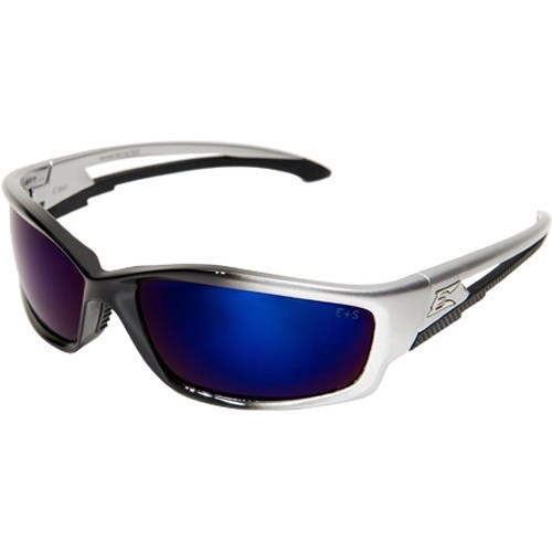 SK118 WOLF PEAK KAZBEK SAFETY GLASSES BLACK W/BLUE MIRROR LENS