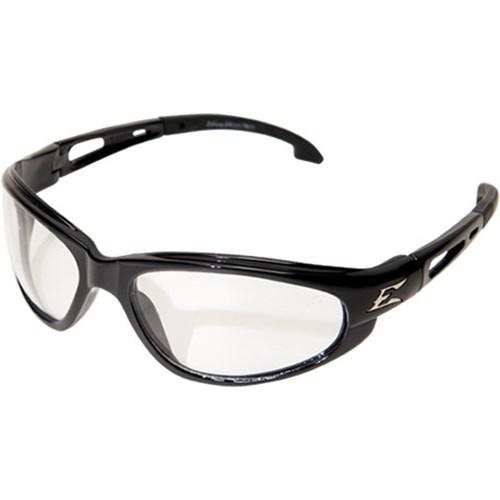SW111AF WOLF PEAK DAKURA SAFETY GLASSES BLACK W/CLEAR ANTI-FOG LENS