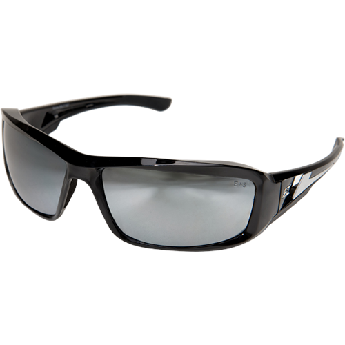 XB117 WOLF PEAK BRAZEAU SAFTEY GLASSES BLACK W/SILVER MIRROR LENS