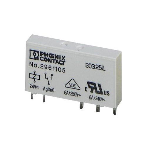 2961105 PHO RELAY; E-MECH POWER SPDT; CUR-RTG 6A; CTRL-V 24DC VOL-RTG 250AC/DC; PCB MNT 70207754