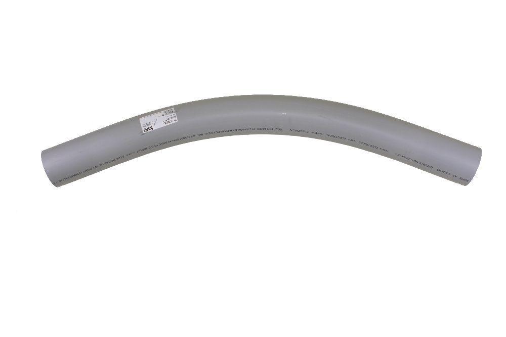 "3""x45Dx48R PVC SWEEP SPxSP SCH40 SCEPTER/KRALOY"