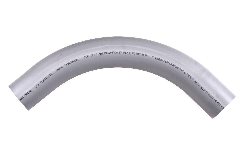 PVC 4-IN 90D COND ELL PLAIN ENDPVC90400 5133832 E018400 07854940STD4090