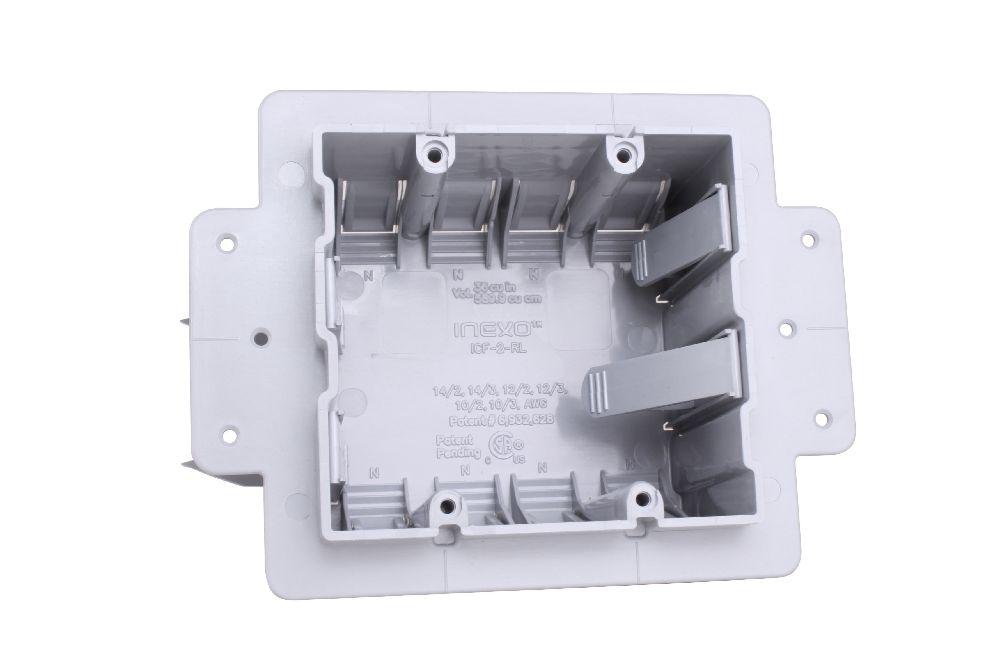 INEXO,220001,PVC DOUBLE GANG ICF BOX CSAus NMD CABLE INEXO