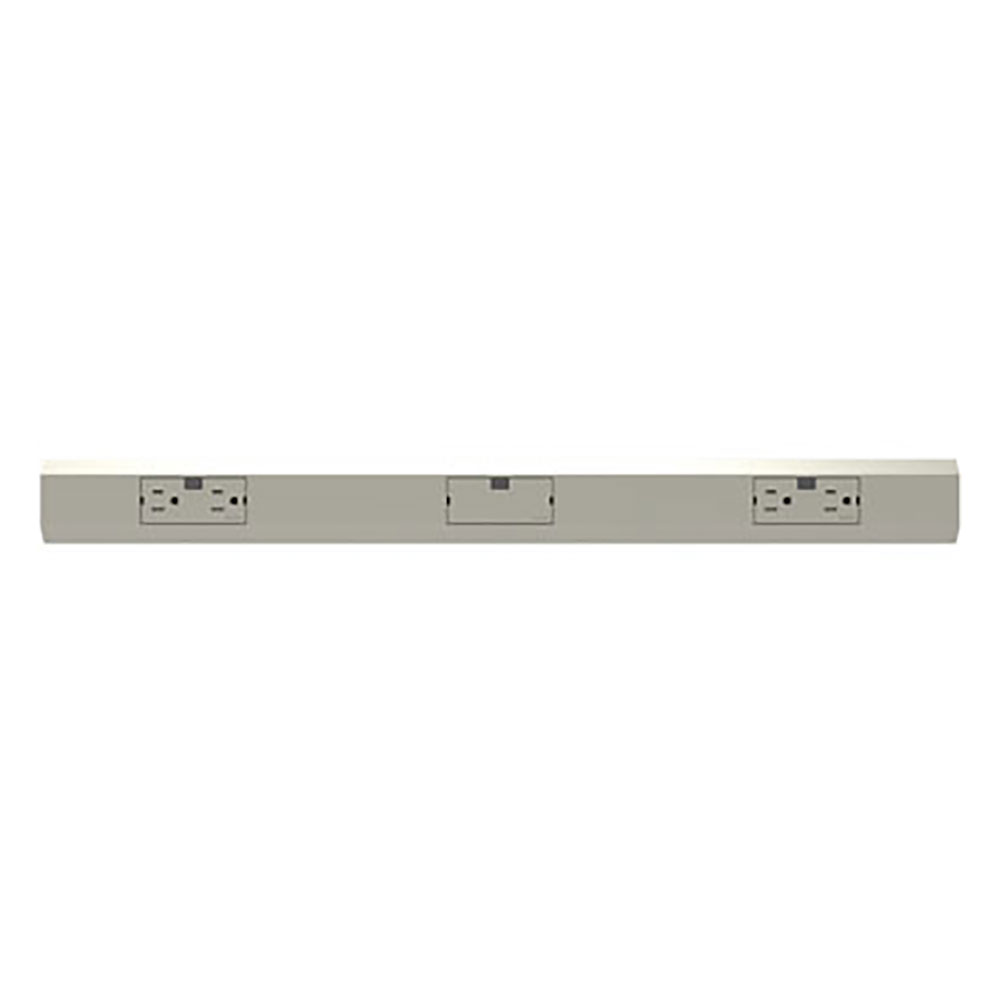 """PS APMT27TM2 27"""" Modular Track Two15A Duplex Outlets and Blank ModuleMagnesium"""